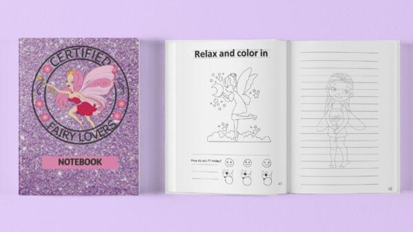 fairy lovers notebook purple