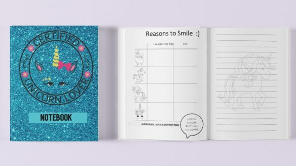 unicorn notebook in beanibubs